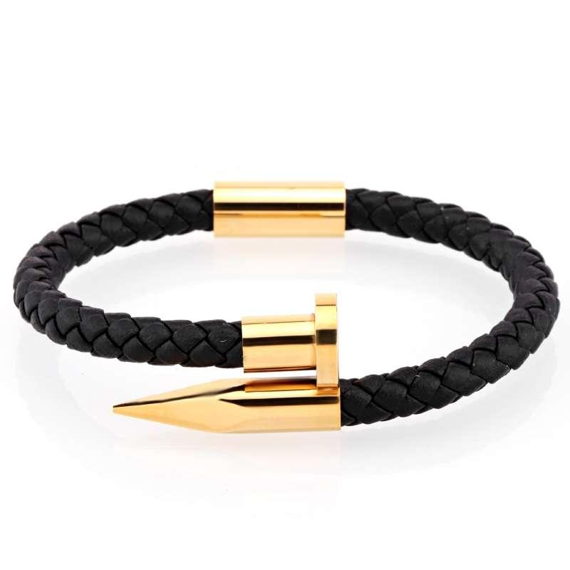 mens curb chain bracelet gold