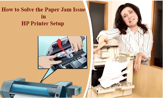 How to solve the paper jam issue in the HP Printer Setup?