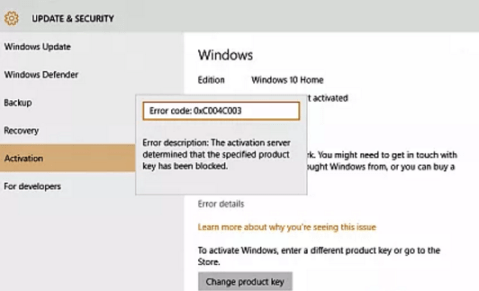 [SOLVED] Windows Activation Error 0xc004c003 -Microsoft Live Assist