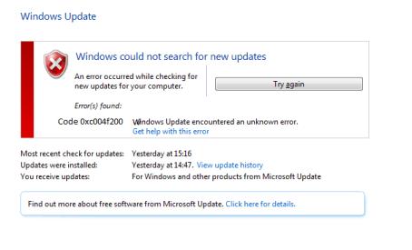 [SOLVED] Windows Update Error 0xc004f200-Microsoft Live Assist