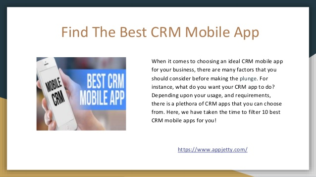 10 Best CRM Mobile Apps For Your Business!