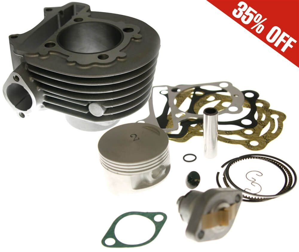 Prima Cylinder Kit (Aluminum, 58.5mm, 161cc); Buddy 125 ONLY | ScootsUSA