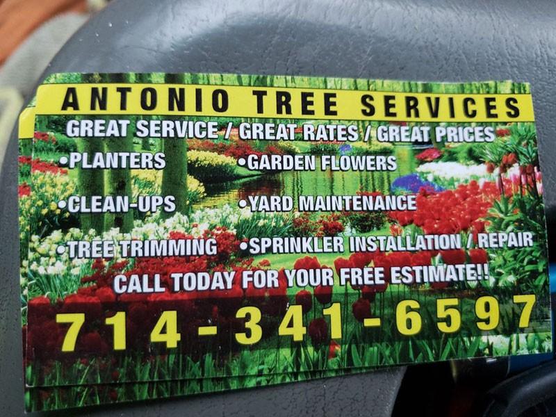 Antonio Tree Services, Landscaping service near me Diamond Bar CA