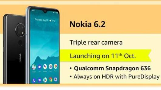 Nokia 6.2, with triple rear cameras, to launch tomorrow