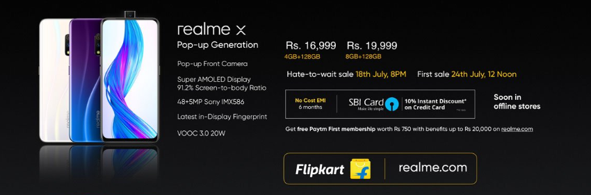 Realme X with Pop-up Selfie Camera Launched in India