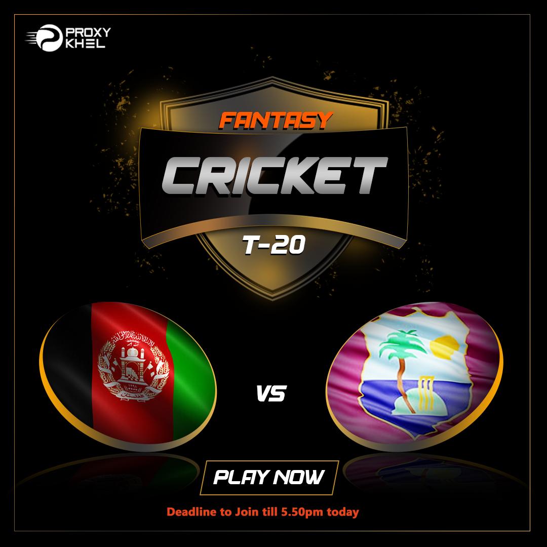 AFG vs WI 3rd Match|Proxy Khel Fantasy Cricket Predictions.