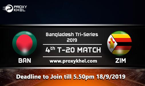ZIM vs BAN Match 04, Bangladesh TRI Series| Proxy Khel Predictions.