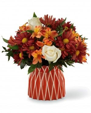Gorgeous Fall Flowers in a vase | Autumn Bouquets
