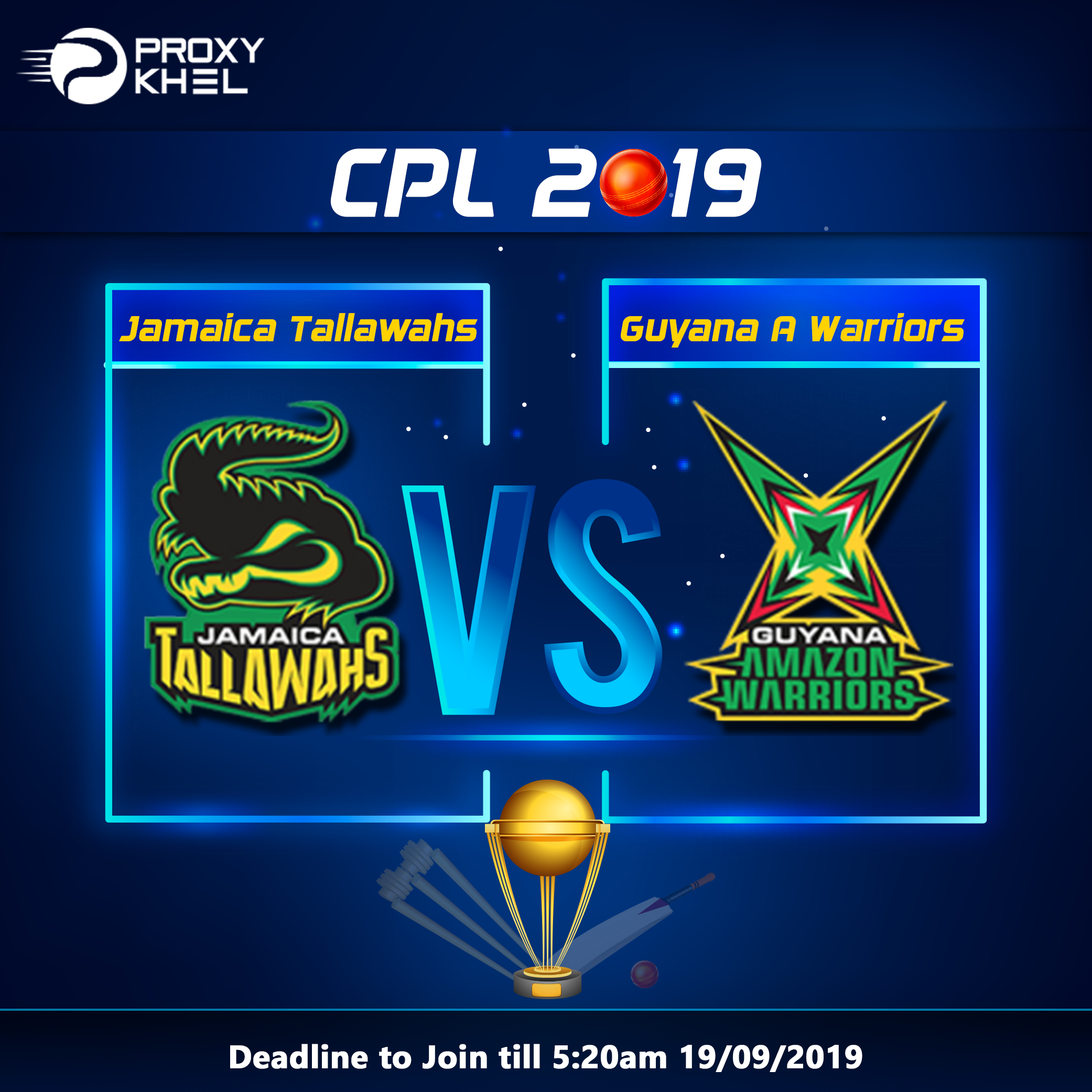 JT vs GAW CPL 2019 Match 15| Proxy Khel Predictions.
