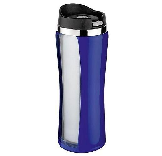 Buy Isosteel Drinking Mug 0.4l Double Wall With Quickstop - Blue in Dubai at cheap price