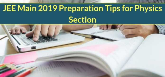 JEE Main 2019 Preparation Tips for Physics Section