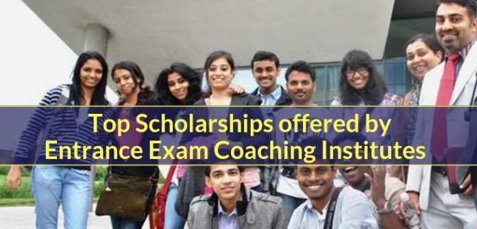Top Scholarships offered by Entrance Exam Coaching Institutes