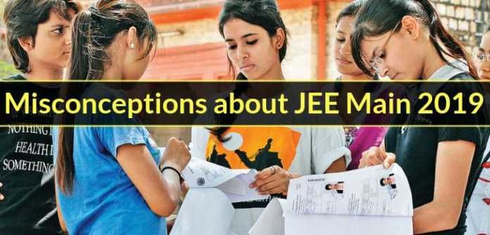 Misconceptions about JEE Main 2019