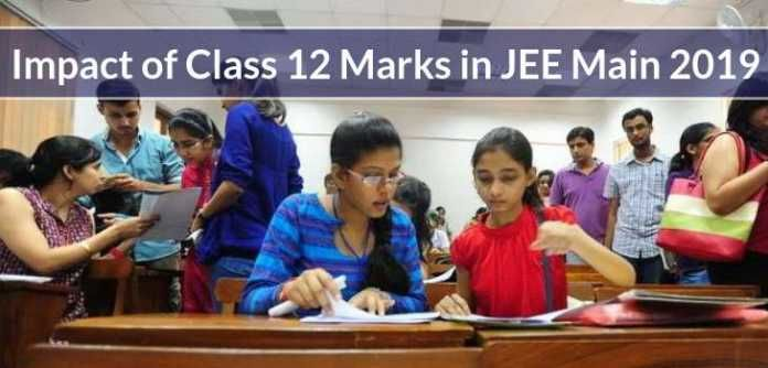 Impact of Class 12 Marks in JEE Main 2019