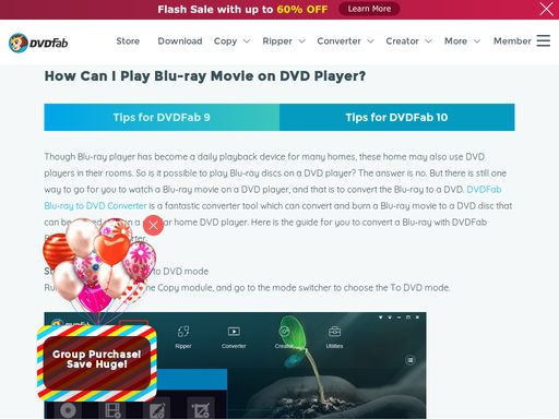 DVDFab Blu-ray to DVD Converter can convert the Blu-ray into regular DVD format and then burn it onto blank DVD disc, by doing so, you can watch the DVD disc on regular home DVD Player.