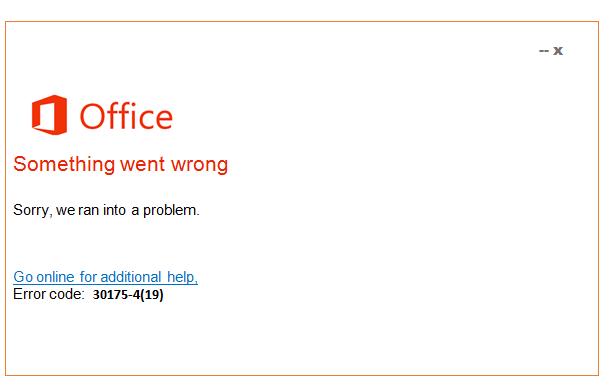 How to Fix Microsoft Office Error 30175-4(19) - Microsoft Live Assist