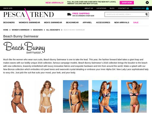 Pescatrend.com is the best when it comes to exclusively designed women's beach bunny swimwear available at the best prices in the market. You get innovative styles in our swimwear that will definitely quench your fashion urge. Visit our website today or give us a call at (212) 813-0546.