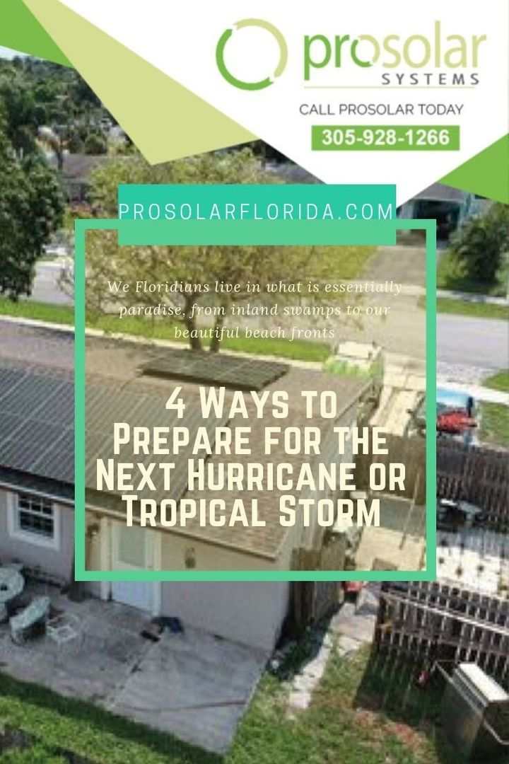 4 Ways to Prepare for the Next Hurricane or Tropical Storm