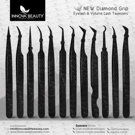 Diamond Grip Eyelash Tweezers