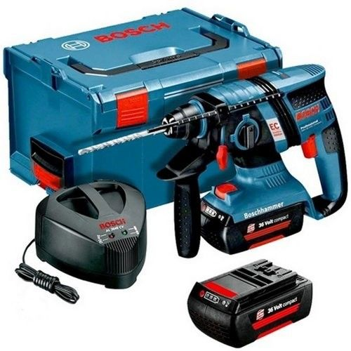 Bosch 24v Hammer Drill - Drilling Through Concrete