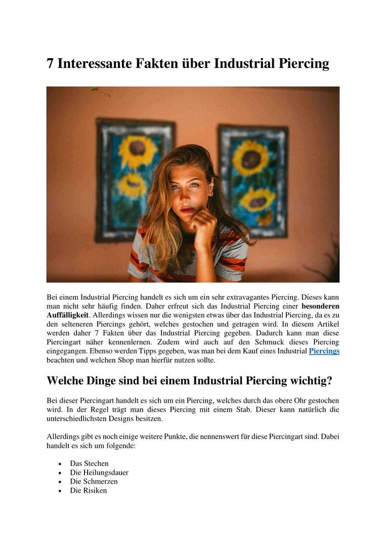 PPT - 7 Interessante Fakten über Industrial Piercing PowerPoint Presentation - ID:8941084