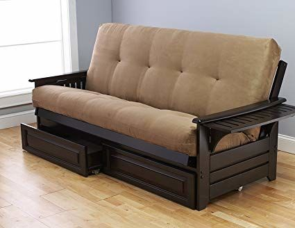 Wood Frame Futon Good For Mattresses