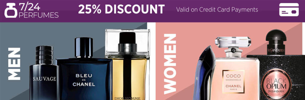 724Perfumes Coupon Code & Discount Voucher UAE   Up to 50% OFF