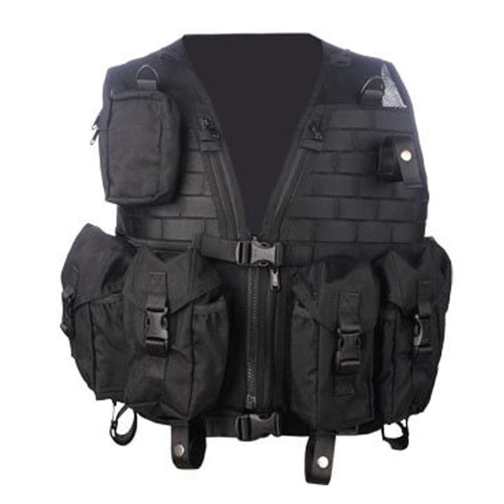 Black Tactical Gear Vest- Hard Shell
