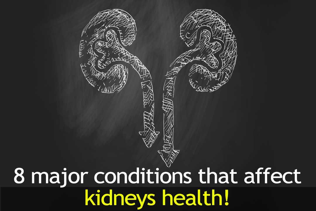 8 Major Conditions That Affect Kidneys Health!
