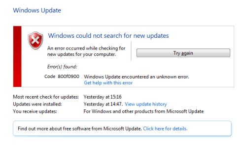 800f0900 can easily fix the Windows Update error in Microsoft - Microsoft Live Assist