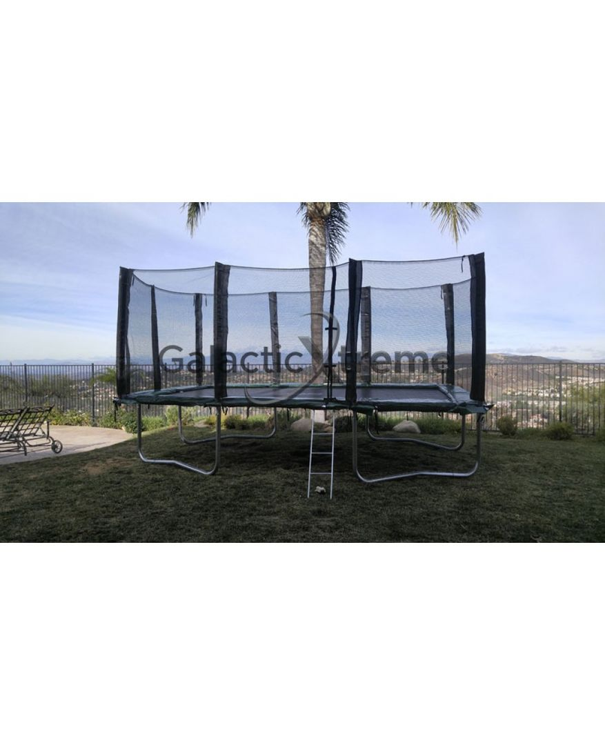 10'x17' Gymnastics Trampoline For Sale With Enclosure Safety Combo