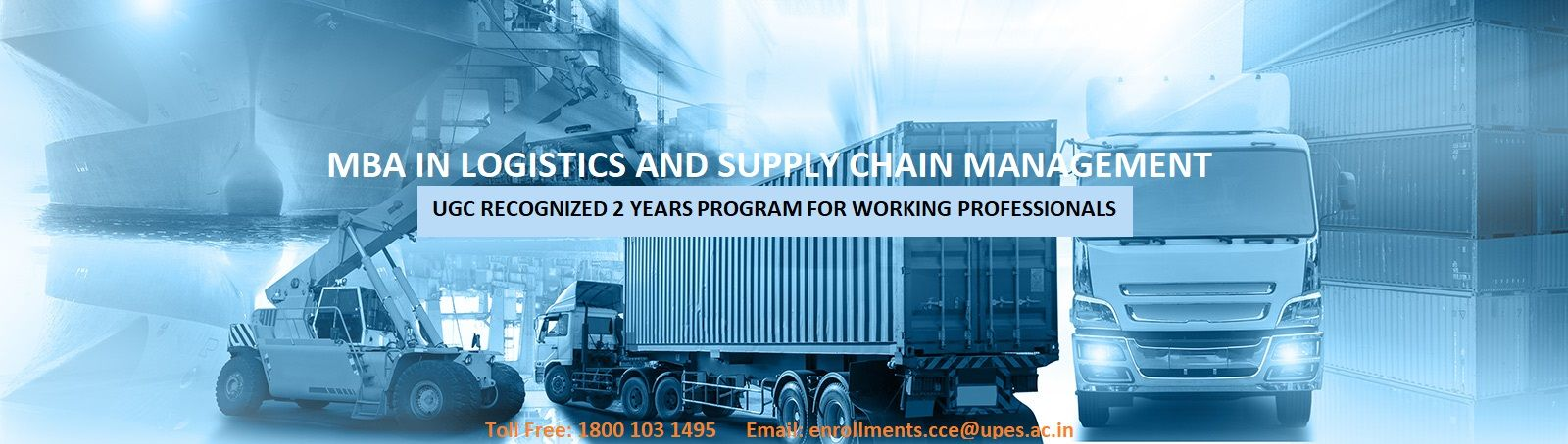Distance MBA in Logistic and Supply Chain Management Program