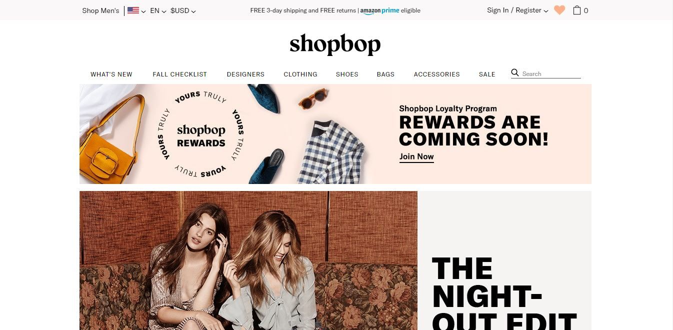 Shopbop Review 2018
