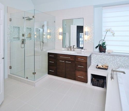 BATHROOM DECOR IDEAS - TIPS FOR COLORS AND MATERIAL