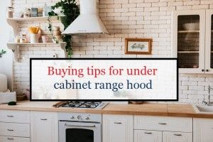 Buying tips for the Range hood under the cabinet
