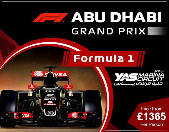 Abu Dhabi Grand Prix travel package