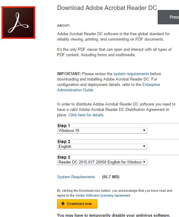 Acrobat Reader DC Offline Installer Download For Windows
