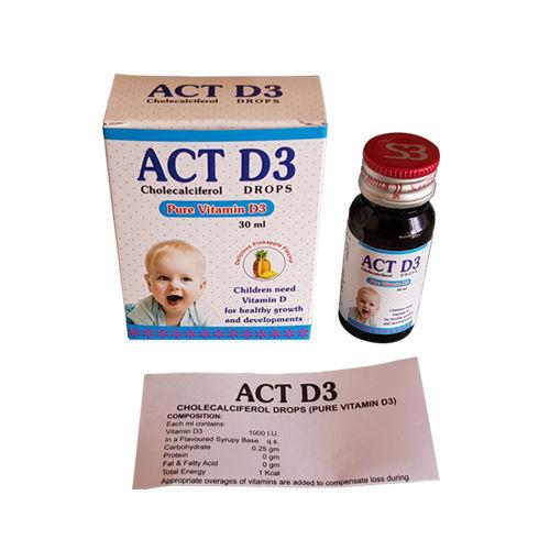 Act D3 Drops, Cholecalciferol Drops (Pure Vitamin D3) - Schwitz Biotech
