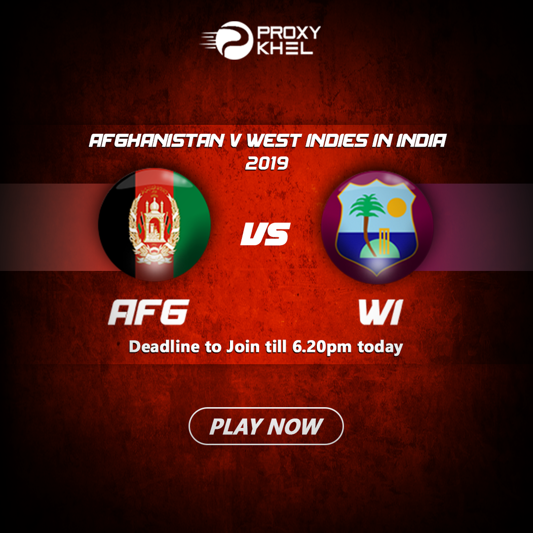 AFG vs WI 2nd ODI Match 2019| Proxy Khel Predictions.