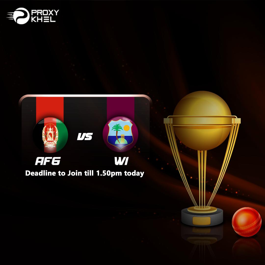 AFG vs WI 1st ODI Match 2019| Proxy Khel Predictions.