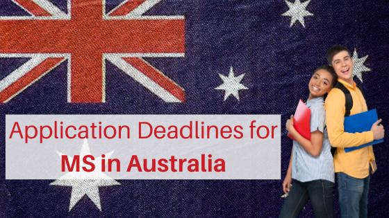 Application Deadlines for MS in Australia - SOPEDITS