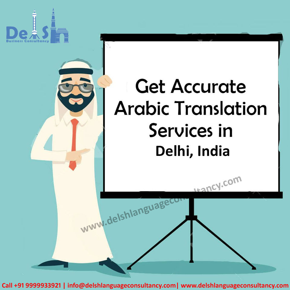 Arabic Translation Services in India | Delsh Business Consultancy