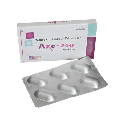 Axe-250 Tablet, Cefuroxime Axetil 250 Mg Tablets - Schwitz Biotech