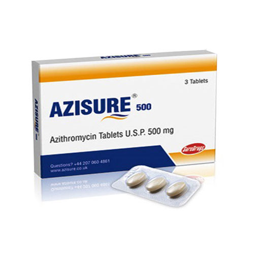Azisure-500 Tablets, Azithromycin Tablets Usp 500 Mg - Schwitz Biotech
