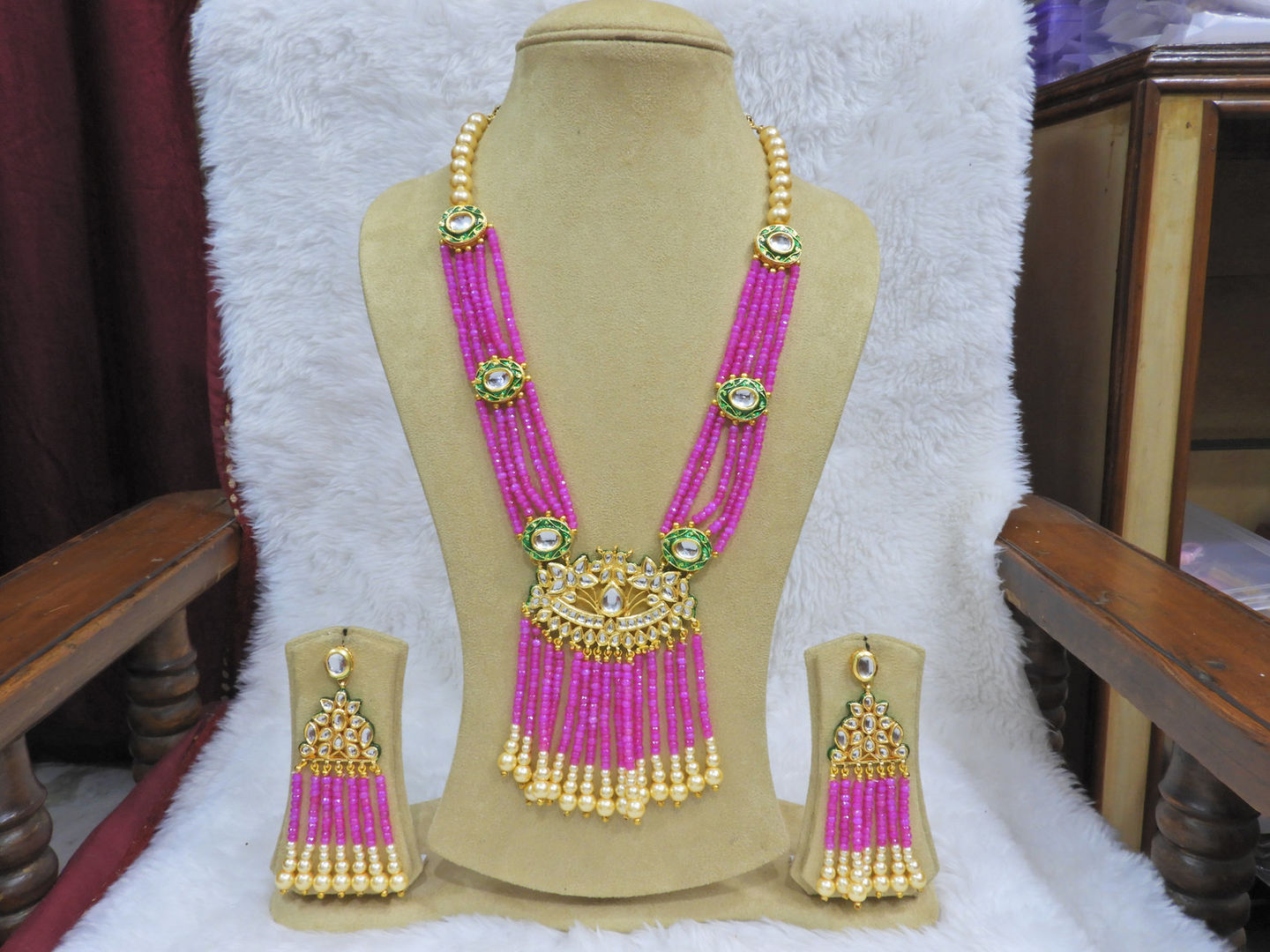 Buy Beads necklace gold in india online | 250+ Latest Designs