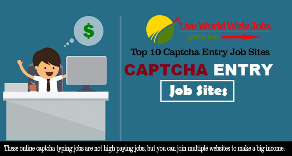 Top 10 Captcha Entry Job Sites | Best Websites For Captcha Work