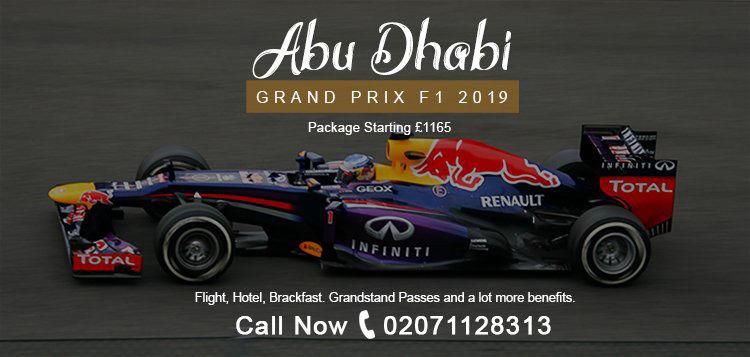 2019 Formula 1 Abu Dhabi Grand Prix Packages, Yas Marina Circuit