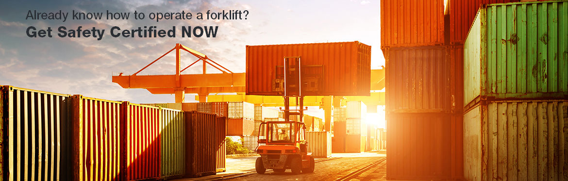 Forklift Certification $38 - Earn a Fork Lift Operator's License Today