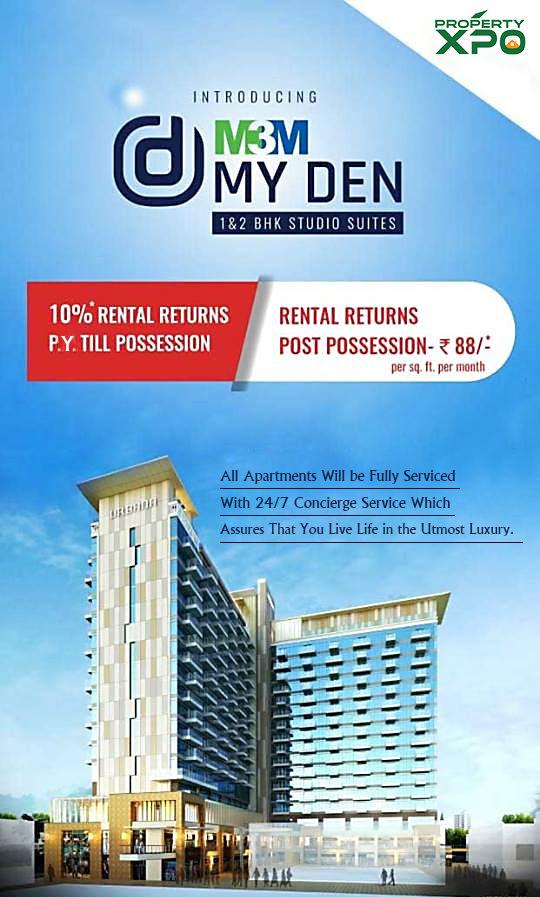 M3m My Den Sector 67 Gurgaon: Luxury Studio Apartments