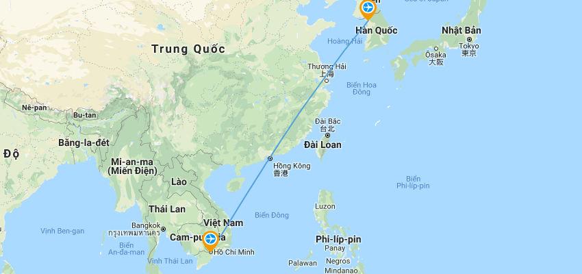 Bay từ hcm sang Hàn Quốc mất bao lâu mấy tiếng | Vietnam Like